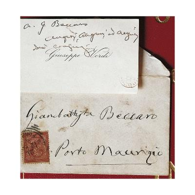Visiting Card and Envelope of Giuseppe Verdi