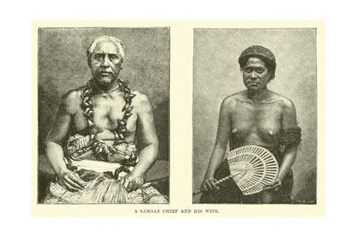 A Samoan Chief and His Wife