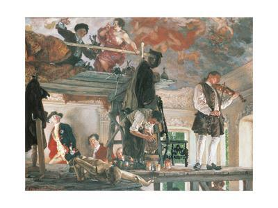 Painting by Adolph Von Menzel