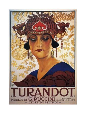 Poster for Turandot, Opera