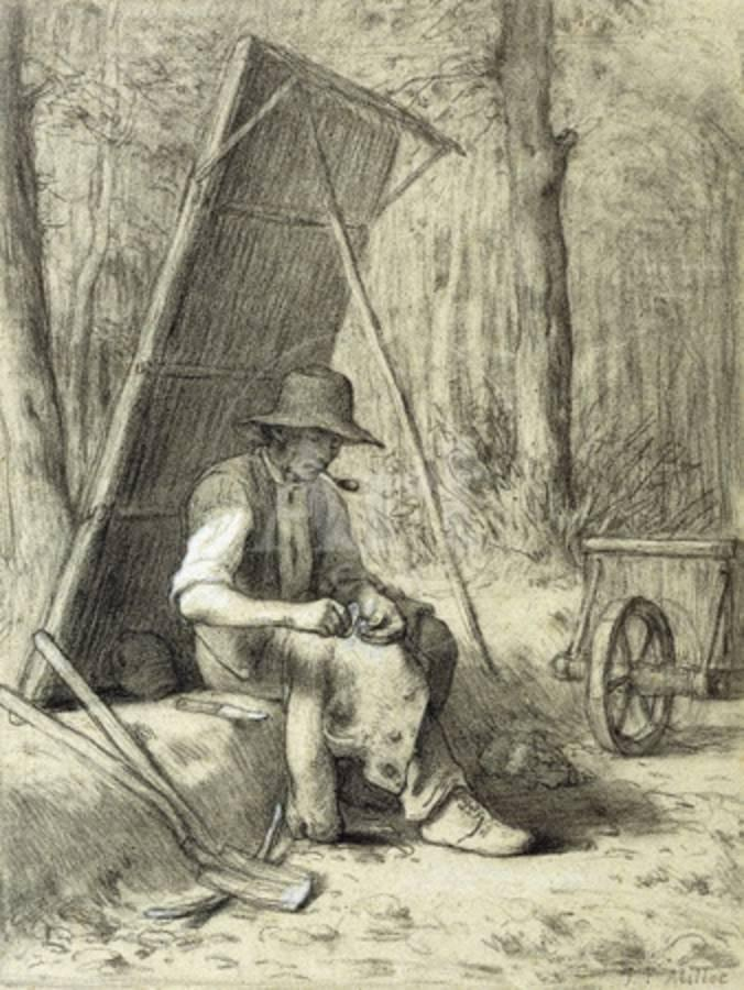 The Road Mender Giclee Print by Jean-François Millet at AllPosters.com