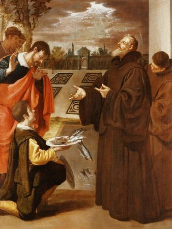 Saint Francis of Paola Blessing the Fish