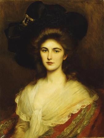 Portrait of an Elegant Lady in a Black Hat