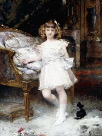 Portrait of Janine Potin with a Kitten, 1904