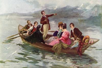 Byron and Shelley on the Lake of Geneva