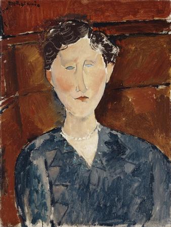 Portrait of a Woman in a Blue Blouse, C.1916