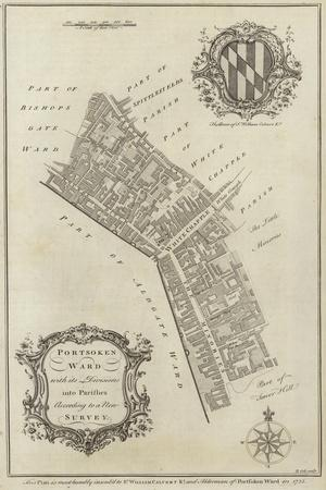 Map of Portsoken Ward, London
