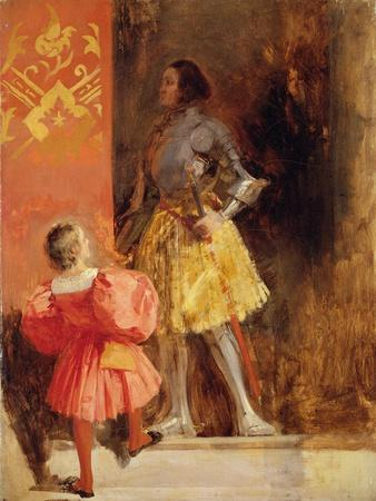 A Knight and Page, C.1826