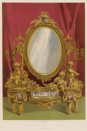 A Bronze Gilt Mirror by a V Paillard, Paris