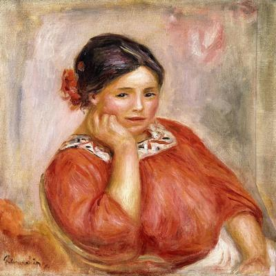 Portrait of Gabrielle in a Red Blouse, 1896