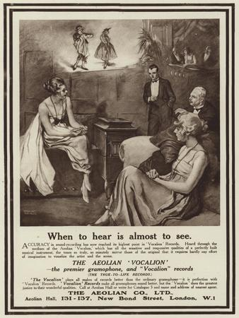 Advertisement for the Aeolian Vocalion Gramophone