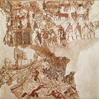 The Death of Libyans, Akrotiri Fresco, Thera