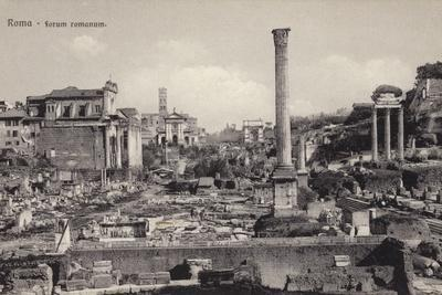 Postcard Depicting the Roman Forum in Rome