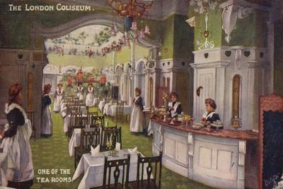 One of the Tea Rooms, the London Coliseum