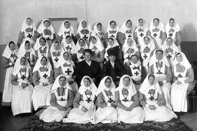 Nurses at the End of Term in St Petersburg, 1914