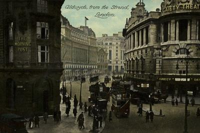 Aldwych, from the Strand, London