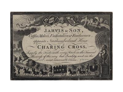 Undertakers, Jarvis and Son, Trade Card