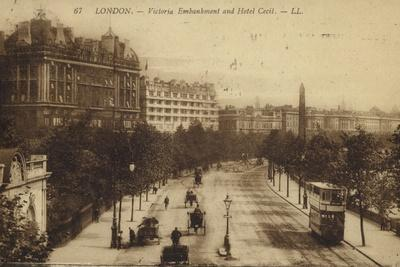 London, Victoria Embankment and Hotel Cecil