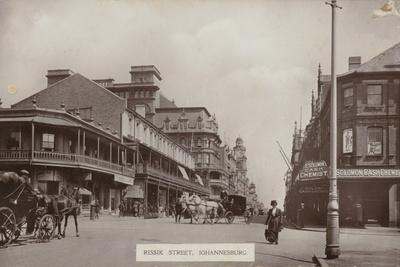 Postcard Depicting Rissik Street in Johannesburg