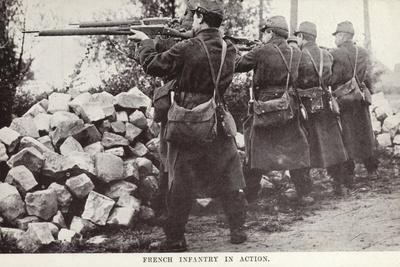 French Infantry in Action, World War I