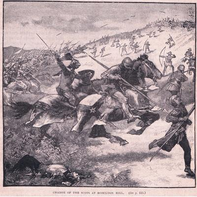Charge of the Scots at Homildon Hill Ad 1402