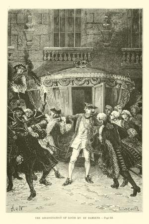 The Assassination of Louis XV by Damiens