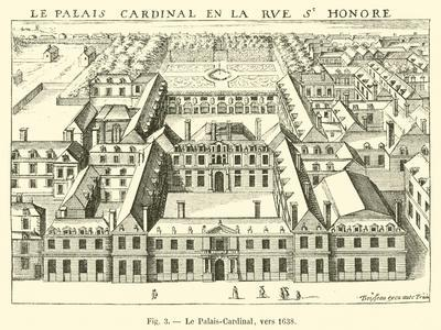 Le Palais-Cardinal, Vers 1638
