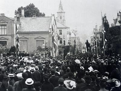 Funeral of Composer Edvard Grieg
