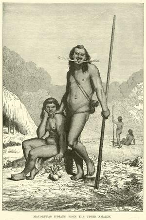 Mayorunas Indians, from the Upper Amazon