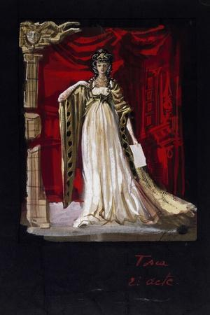 Costume Sketch by Jacques Noel