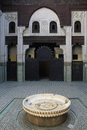 Inner Courtyard with Fountain, Bou Inania Madrasa