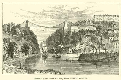 Clifton Suspension Bridge, from Ashton Meadow