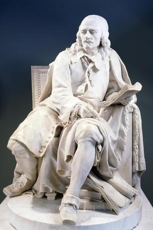 Marble Statue of Pierre Corneille