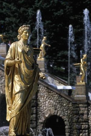 Gilded Bronze Statues, Grand Cascade