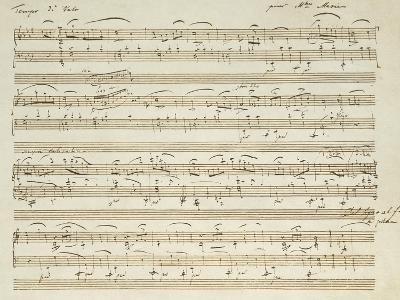Handwritten Score for Waltz in Flat Major