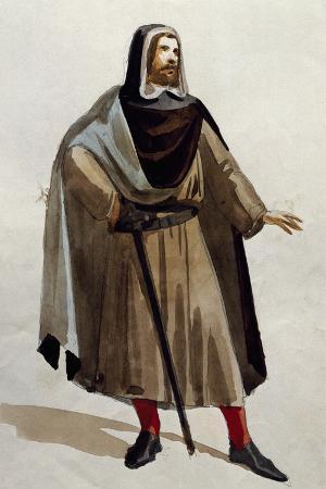 Costume Sketch for Il Giuramento