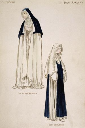 Costume Sketches for Sisters in Suor Angelica