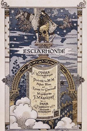 Poster for Esclarmonde, Opera by Jues Massenet