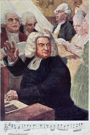 Postcard Depicting Johann Sebastian Bach