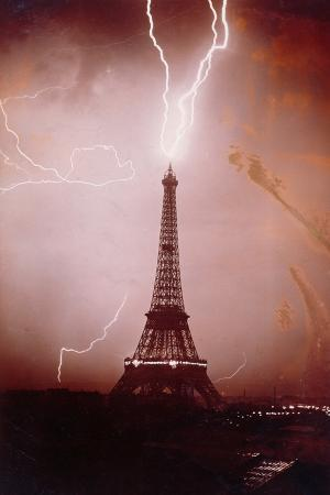 Storm over the Eiffel Tower, 6th May 1919