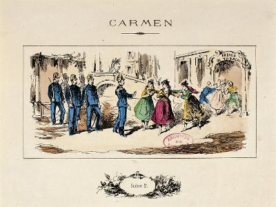 France, Paris, a Scene from the Opera Carmen