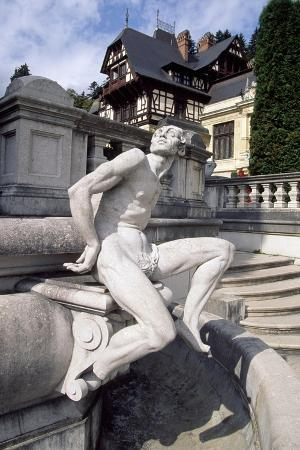 Statue in Gardens of Peles Castle