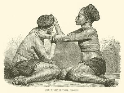 Zulu Women at their Toilette