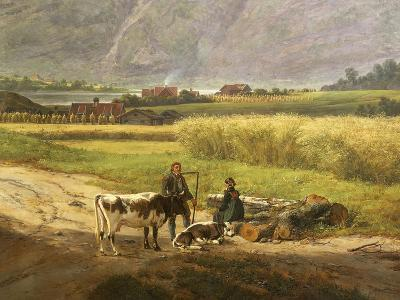 Norwegian Farmers by Johan Christian Clausen Dahl