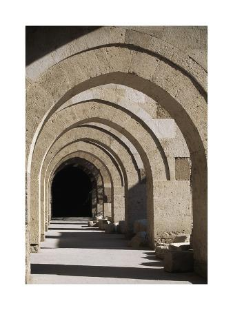 Arcades in the Courtyard of the Caravansary