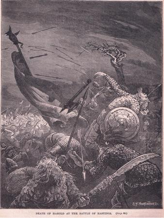 Death of Harold at the Battle of Hastings Ad 1066