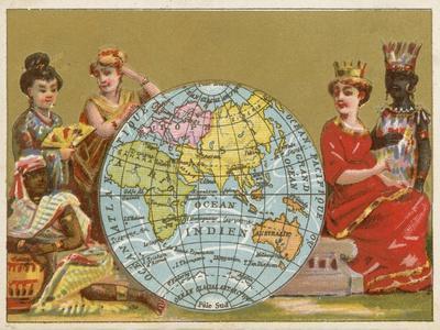 Globe - 19th Century French Trade Card
