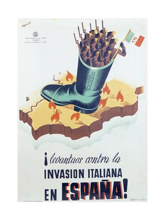 Spanish Republican Anti-Fascist Poster, 1936-37