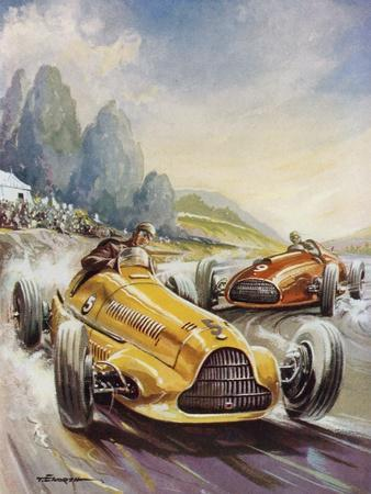 A Hair-Raising Moment in a Motor Race