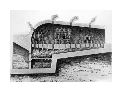 Wood Kiln for Baking Ceramics, 1882